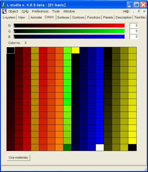L Studio User S Guide Palette Editors